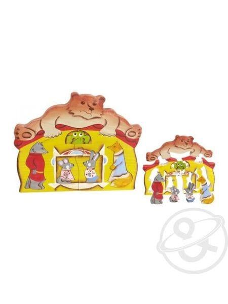 дерев. Теремок с медведем (8 частей) 08015*