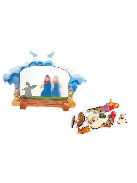 деревянный  Ледяной театр  (репка, теремок, два веселых гуся) 13010*