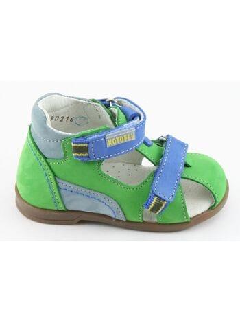 туфли открытые Котофей 22059-22 зеленый (18-22)**