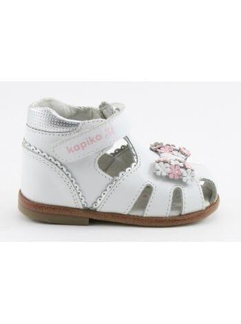 Туфли открытые капика 10053-1 белый (18-22)**