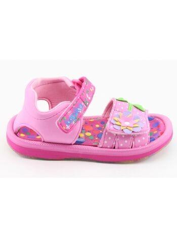 пляжная обувь капика 82058-4 роз./салат (23-28)**