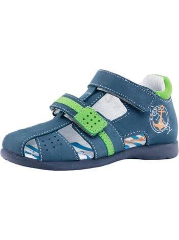 туфли открытые Котофей 322036-21 син-зел (25-29)**