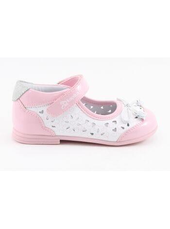 Туфли Капика 21230к-1 белый-розовый (21-24)**