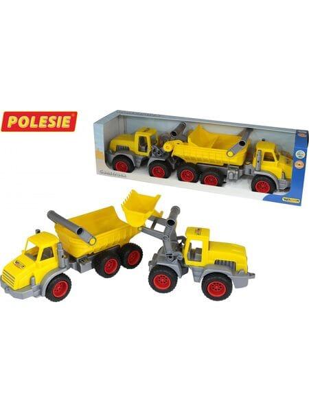 трёхосный автомобиль-самосвал + трактор-погрузчик 38159*