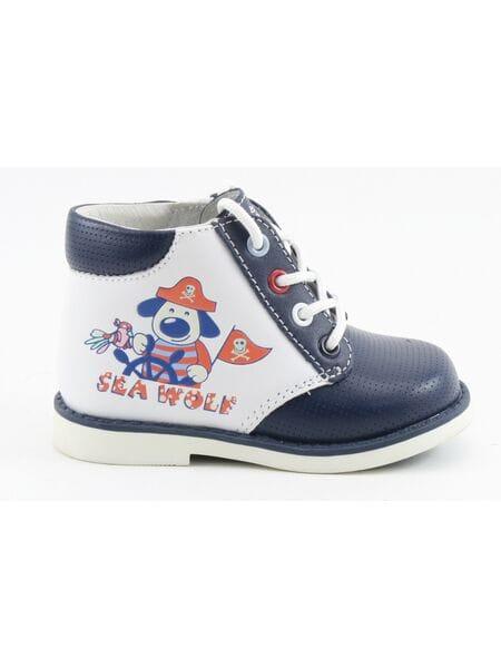 Ботинки Капика 10073-1 белый-синий (18-22)**