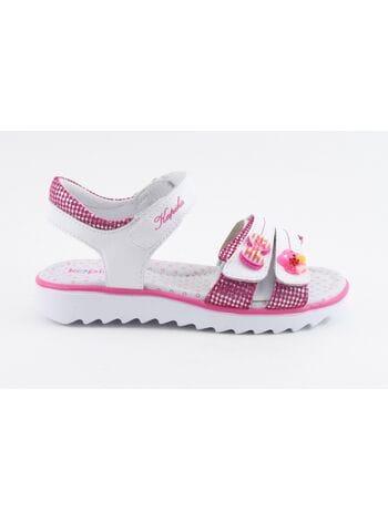 Туфли открытые Капика 32327-1 белый-фуксия (28-33)**