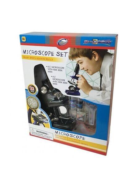 21332 Микроскоп (набор, 33 предмета, черный)*