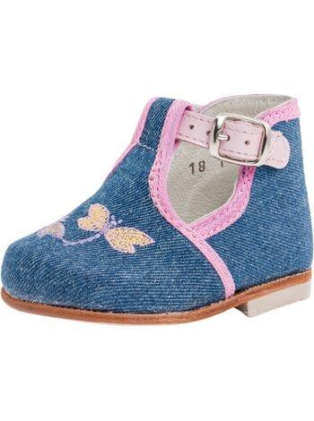 туфли котофей 031017-25 текстиль голубой (18-22)**