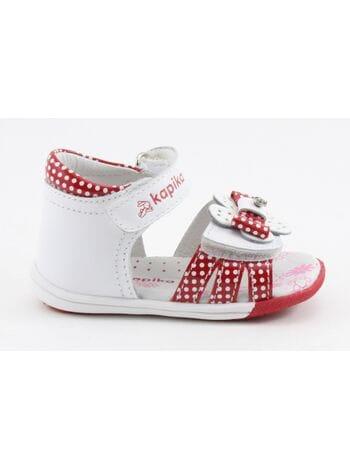 Туфли открытые Капика 31071-6 бел.\крас. (18-22)**