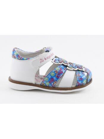 Туфли открытые Капика 31257-2 бел.син. (21-24)**