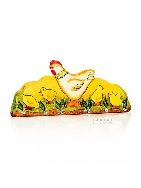 дерев. Курица и цыплята 08001*