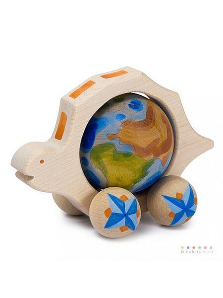 деревянная Черепаха большая с Землей 04007*