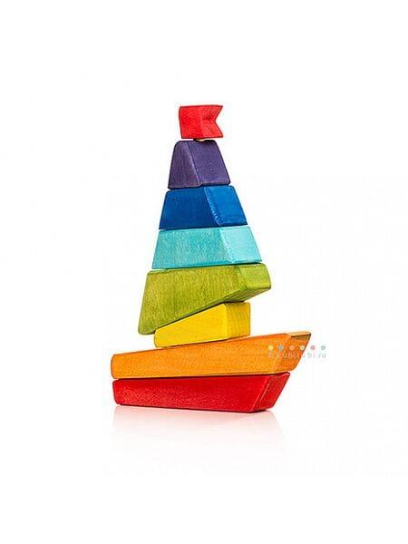 дерев. Кораблик пирамидка 16001*