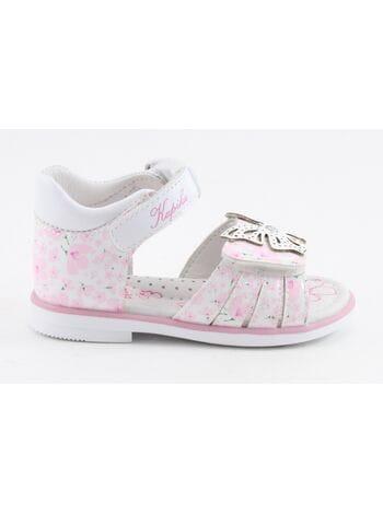 Туфли открытые капика 31312к-1 белый-розовый (21-24)**