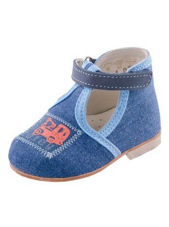 туфли Котофей 031031-21 ясельные текстиль синий (19-21)**