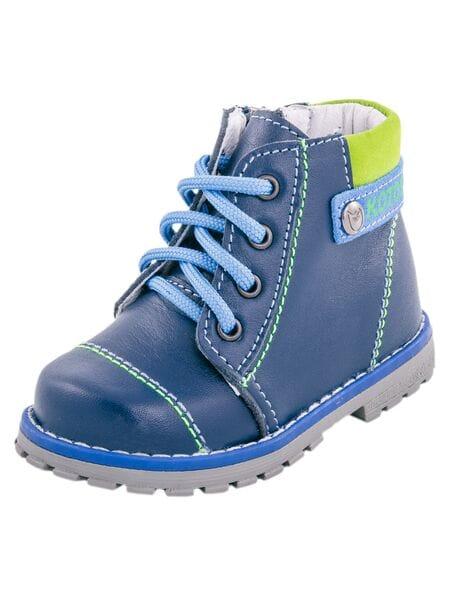 ботинки Котофей 052111-21  нат. кожа синий (20-22)**