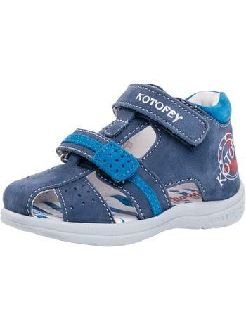 туфли открытые котофей 122090-22  синий (20-24)**
