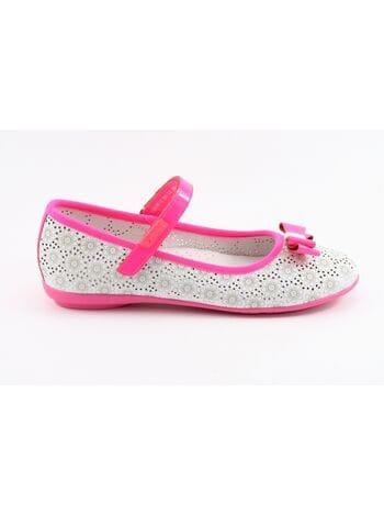 Туфли капика 23226-2 белый-розовый (31-36)**