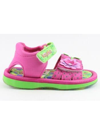 пляжная обувь капика 82058-2 фукс./салат.(23-28)**