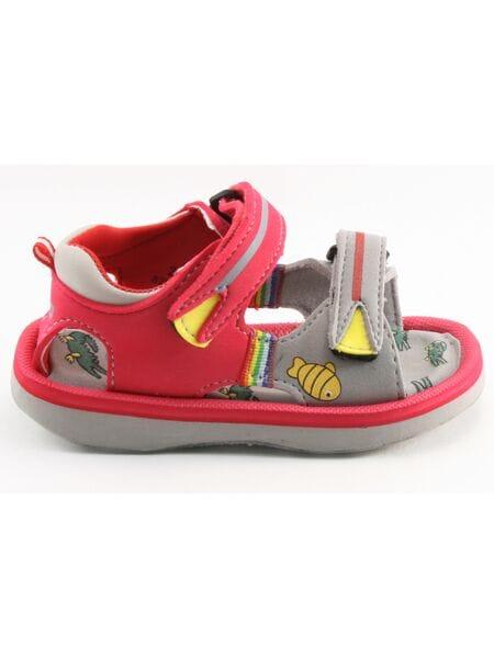 пляжная обувь капика 82036-4 красн./сер. (23-28)**