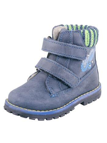 ботинки котофей 052106-31 синий (20-22)**