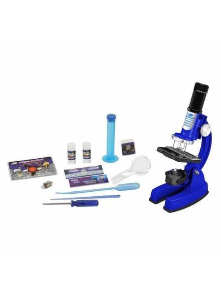90101 Микроскоп в кейсе (набор, 48 предметов, синий)*