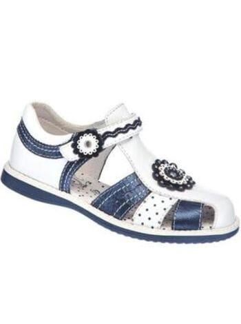 Туфли Капика летние 32179-2 белый\синий (26-31)**