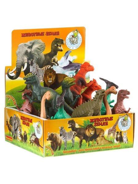 """BONDIBON  динозавры, 6 видов, 10-13"""" ВВ1615*"""
