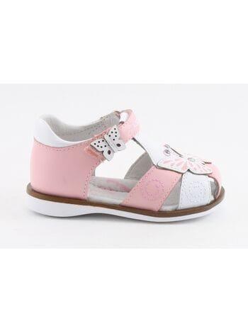 Туфли открытые капика 31268-2 белый-розовый (21-24)**